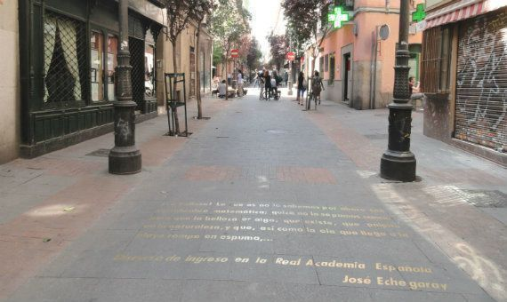 route through Barrio de las Letras Madrid